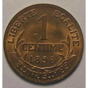 Dupuis, 1 centime 1898, SPL, Gadoury 90