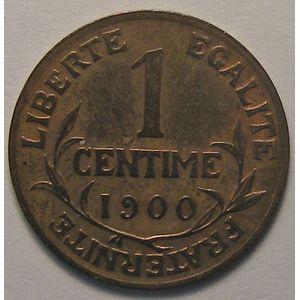 Dupuis, 1 centime 1900, TTB cleaned, Gadoury 90