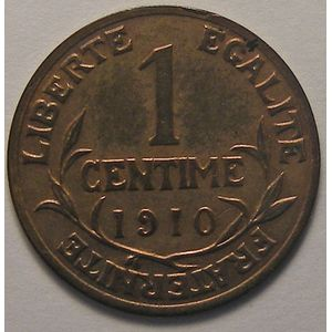 Dupuis, 1 centime 1910, TTB, Gadoury 90