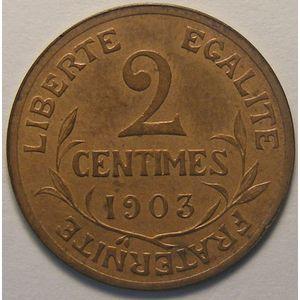 Dupuis, 2 centimes 1903, TTB/TTB+, Gadoury 107