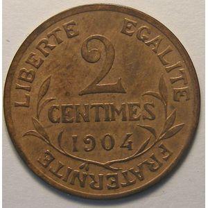 Dupuis, 2 centimes 1904, TTB/TTB+, Gadoury 107