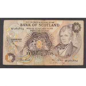 Ecosse, 10 Pounds 16.6.1982, VF