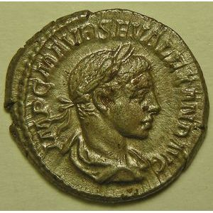 Empire romain, Alexander Severus, Denier, R/ P M TR P II COS II P P, 4.16 Grs, SUP