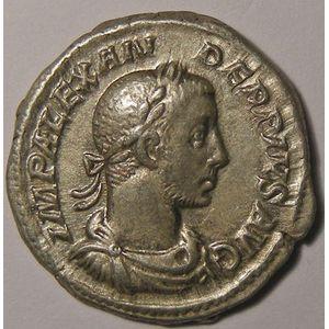 Empire romain, Alexander Severus, Denier, R/ P M TR P X COS III P P, 2.89 Grs, TTB+