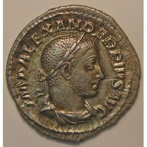 Empire romain, Alexander Severus, Denier, R/ SPES PVBLICA, 2.67 Grs, TTB+/SUP
