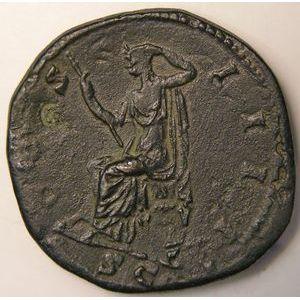 Empire romain, Antonin le Pieux, Sesterce, R/ COS IIII SC, 31.34 Grs, TTB