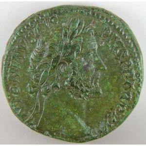 Empire romain, Antonin le Pieux, Sesterce, R/ PIETATI AVG COS IIII SC, 26.74 Grs, TTB/TTB+