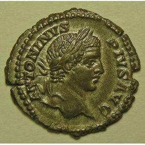 Empire romain, Caracalla, Denier, R/ PONTIF TR P X COS II, 3.30 Grs, SUP