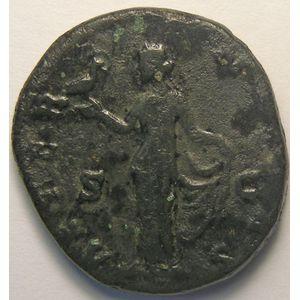 Empire romain, Faustina Senior, As, R/ AETERNITAS SC, 10.78 Grs, TB