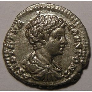 Empire romain, Geta, Denier, R/ SECVRIT IMPERII, 3.24 Grs, TTB+