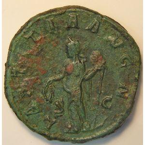 Empire romain, Gordianus III, Sesterce, R/ LAETITIA AVGN  SC, 20.36 Grs, TTB