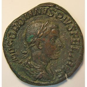 Empire romain, Gordianus III, Sesterce, R/ PAX AETERNA  SC, 15.49 Grs, TTB