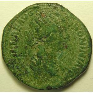 Empire romain, Lucilla, Sesterce, R/ IVNONI LVCINAE SC, 20.75 Grs, TB/TB+