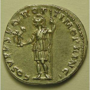 Empire romain, Trajan, Denier, R/ COS V P P SPQR OPTIMO PRINCIPI, 3.24 Grs, SUP