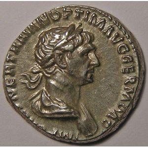 Empire romain, Trajan, Traianus, Denier, R/ SALVS AVG/ PARTHICO P M TR P COS VI P P S P Q R, 3.27 Grs, TTB+/SUP