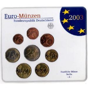 Euro, Allemagne, coffret Brillant Universel 2003 A-D-F-G-J