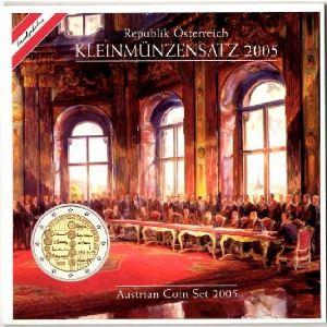 Euro, Autriche, coffret Brillant Universel 2005