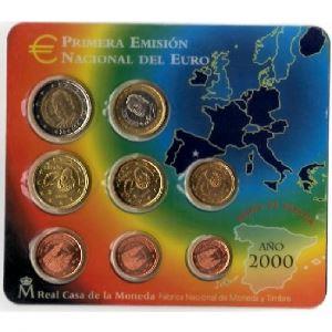 Euro, Espagne, coffret Brillant Universel 2000