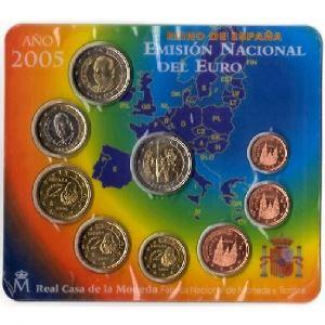 Euro, Espagne, coffret Brillant Universel 2005