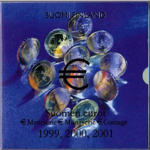 Euro, Finlande, coffret Brillant Universel 1999,2000,2001