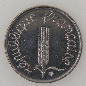 France, 1 Centime 1975, SUP+/SPL, KM#928 .