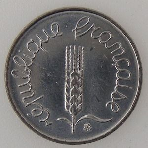 France, 1 Centime 1983, SUP+, KM#928 .