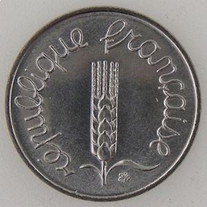 France, 1 Centime 1984, SPL, KM#928 .