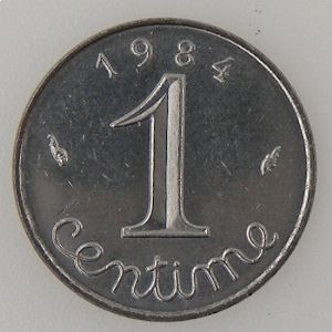 France, 1 Centime 1984, SUP+ , KM#928 .