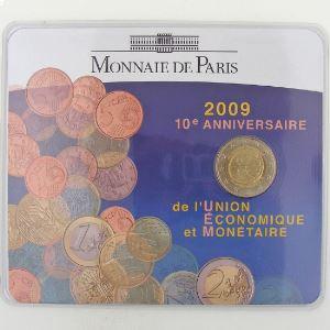 France, 2 Euro 2009 BU, Union Economique Monétaire