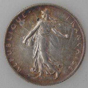 France, 2 Francs 1905, TTB, KM# 845.1