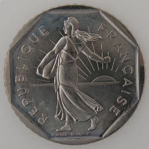 France, 2 Francs 1989, SUP+, KM#542.1