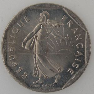 France, 2 Francs 1993, SPL, KM# 542.1