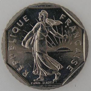 France, 2 Francs 1994, SPL+, KM# 542.1