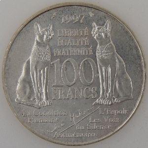 France, André Malraux, 100 Francs 1997, SUP, KM# 1188