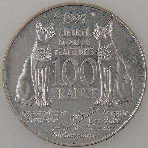 France, André Malraux, 100 Francs 1997 , SUP, KM# 1188
