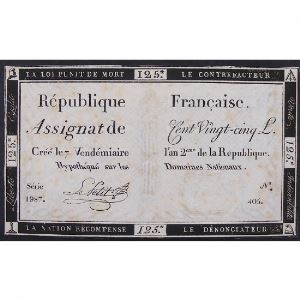 France, Assignat de 125 Livres , Série: 1987, TB+
