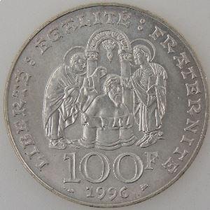 France, Clovis , 100 Francs 1996, SUP, KM# 1180