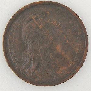 France, Dupuis, 2 Centimes 1907, TTB, KM#841