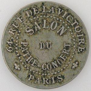France, Jeton, Salon du Pathe-concert Paris.