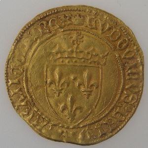 France, Louis XI (1461-1483), écu d'or au soleil, Rouen