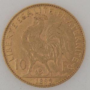 France, Marianne, 10 Francs 1899, TB+/TTB, KM#846