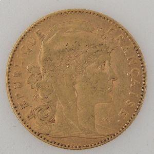 France, Marianne, 10 Francs 1900, TB+, KM#846