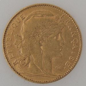 France, Marianne, 10 Francs 1901, TB+, KM#846