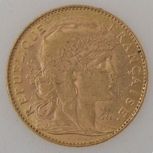 France, Marianne, 10 Francs 1901, TTB, KM#846