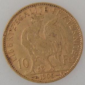 France, Marianne, 10 Francs 1905, TB+, KM#846