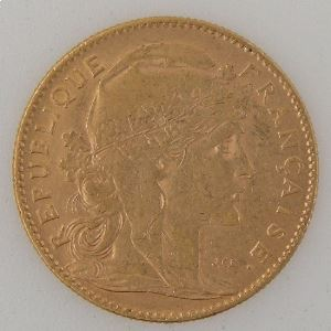France, Marianne, 10 Francs 1906, TTB, KM#846