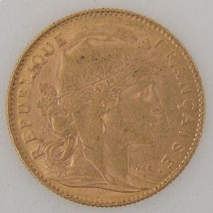 France, Marianne, 10 Francs 1911, TTB, KM#846