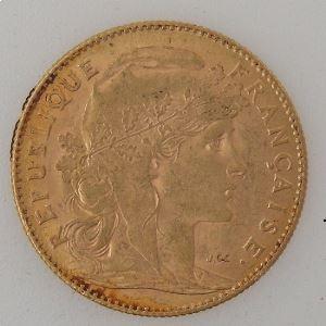 France, Marianne, 10 Francs 1912, TTB, KM#846