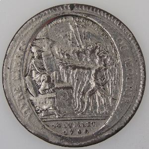 France, Monneron de 5 Sols 1792, TB+
