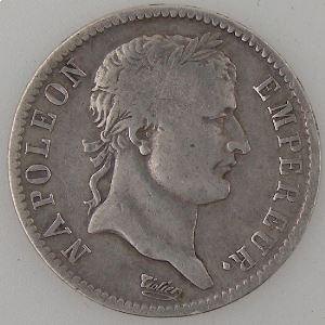 France, Napoléon 1er, 1 Franc 1809 B, TB/TB+, KM# 692.2